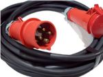 5m  400v 3 phase 4 pin  32a extension lead (6mm H07 cable) IP44 Rated